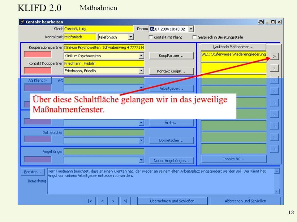 KLIFD 2.0 Maßnahmen 18