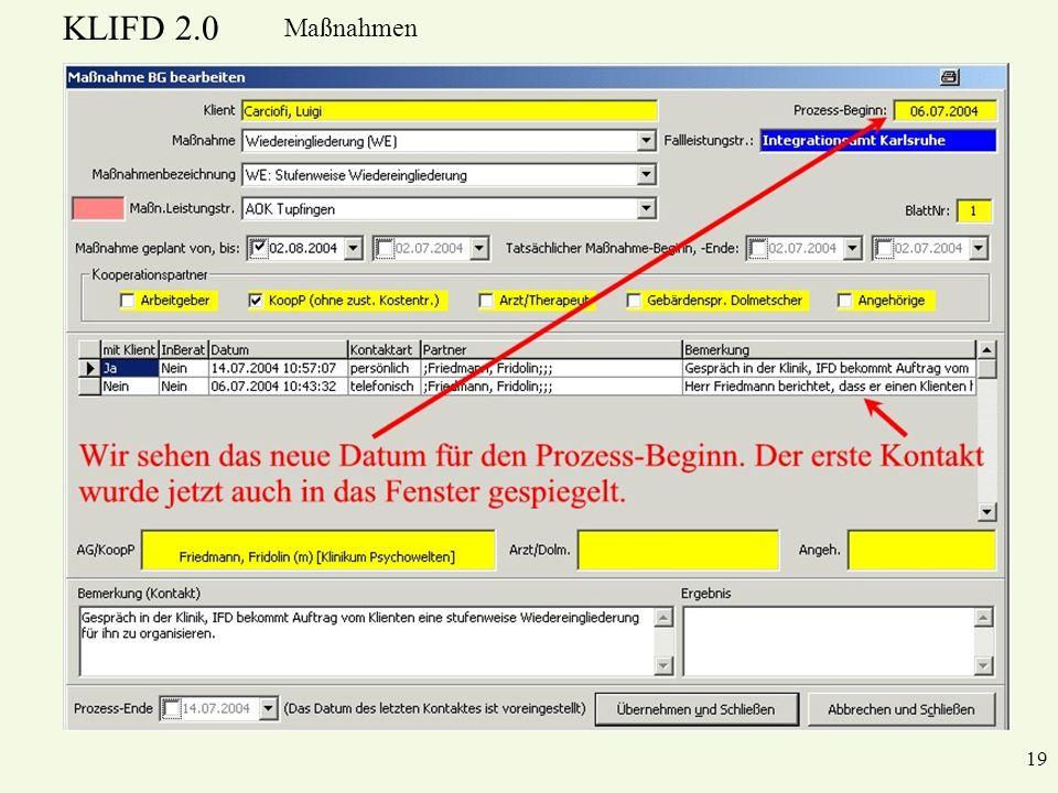 KLIFD 2.0 Maßnahmen 19