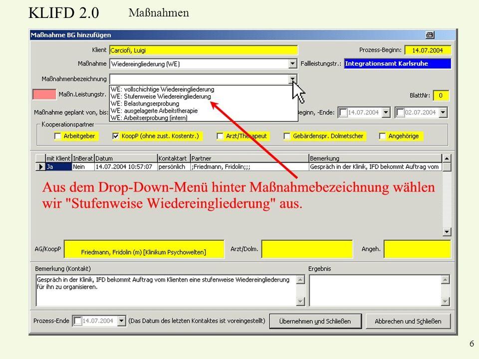 KLIFD 2.0 Maßnahmen 6