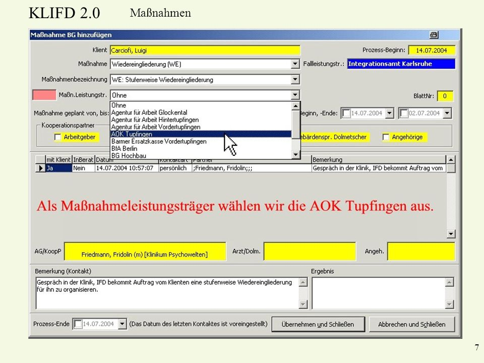 KLIFD 2.0 Maßnahmen 7