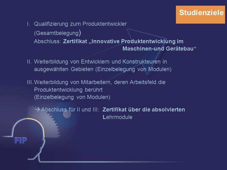 Kontakt Ansprechpartner für das Weiterbildungsstudium Innovative Produktentwicklung: Projektverantwortlicher:Prof.