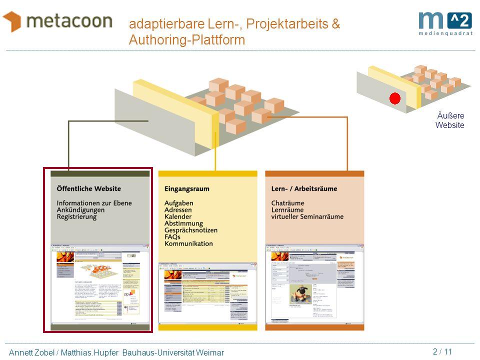 individuell Lernen Arbeiten in Projekten Lernmaterialien kooperativ erstellen Lern-, Projektarbeits- und Authoring Plattform eine adaptierbare