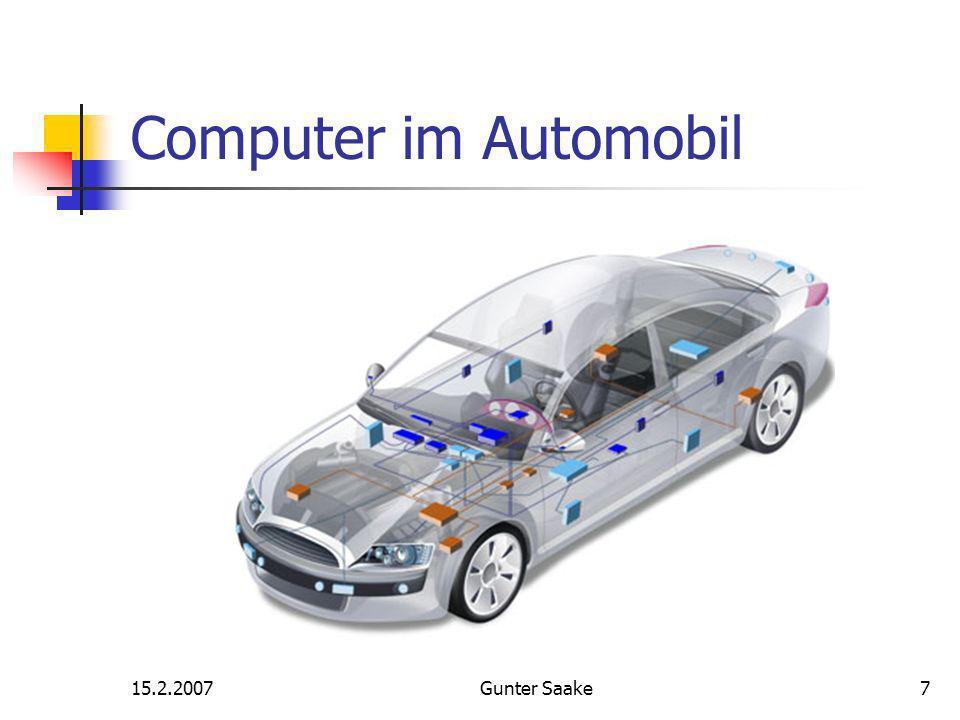 15.2.2007Gunter Saake7 Computer im Automobil