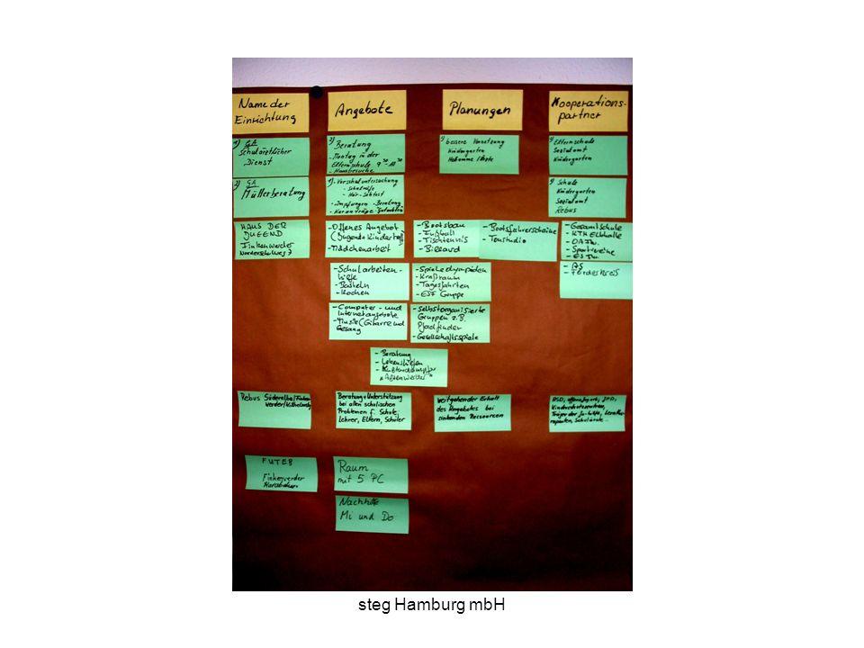 steg Hamburg mbH Fragen an die Teilnehmer/innen Was brauchen Schulen für Kompetenzen, um in Netzwerken zu arbeiten und Kooperationen aufzubauen.