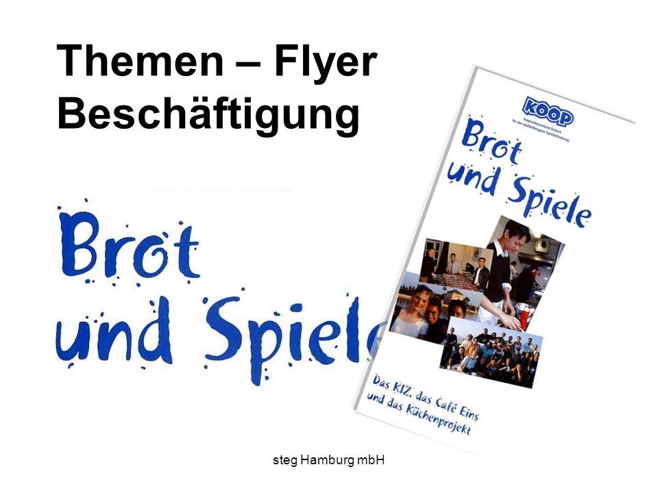 steg Hamburg mbH Themen – Flyer Beschäftigung