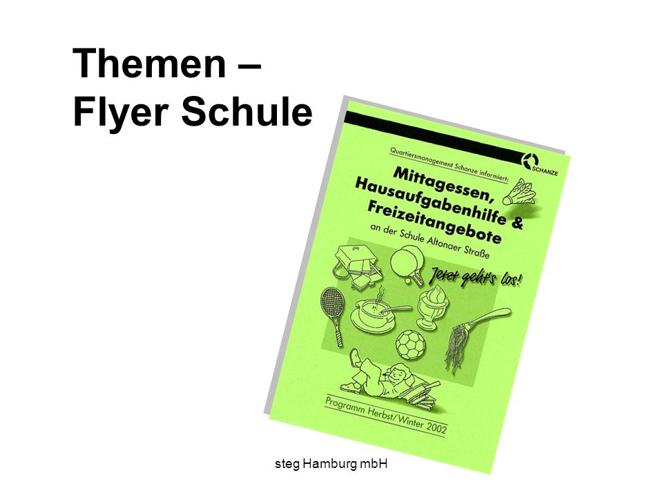 steg Hamburg mbH Themen – Flyer Schule