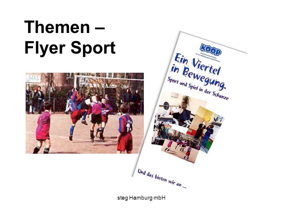 steg Hamburg mbH Themen – Flyer Sport