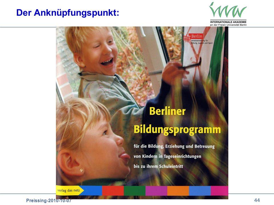44 Preissing-2010-10-07 Der Anknüpfungspunkt:
