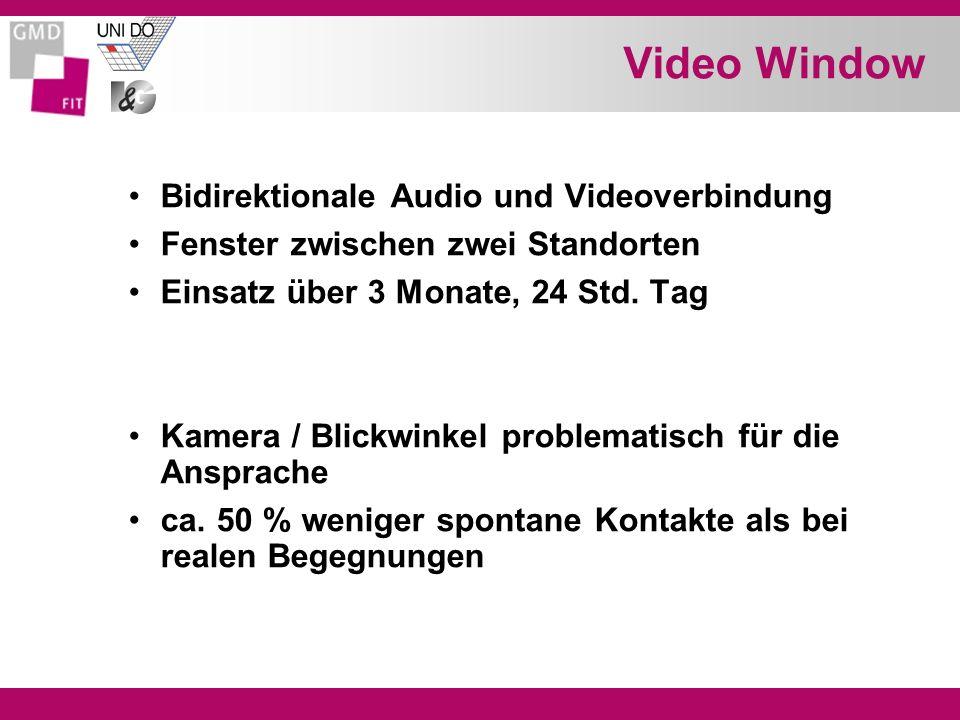 Video Window Bidirektionale Audio und Videoverbindung Fenster zwischen zwei Standorten Einsatz über 3 Monate, 24 Std.