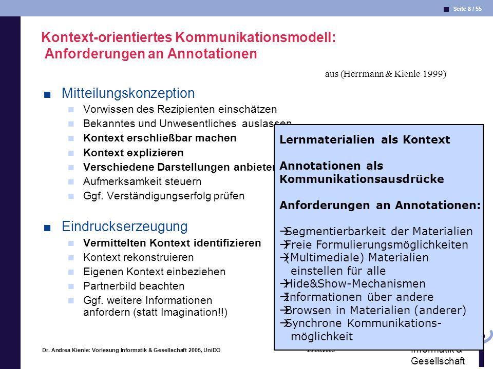 Seite 49 / 55 Informatik & Gesellschaft Dr.