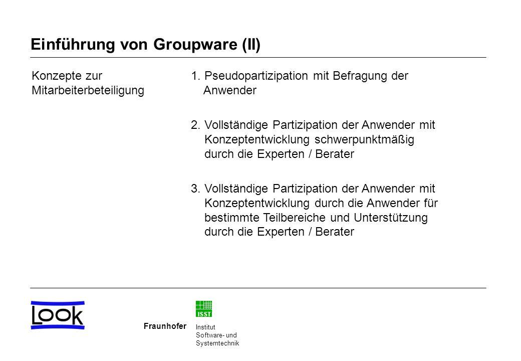 ISST Fraunhofer Institut Software- und Systemtechnik Konzepte zur Mitarbeiterbeteiligung 1.