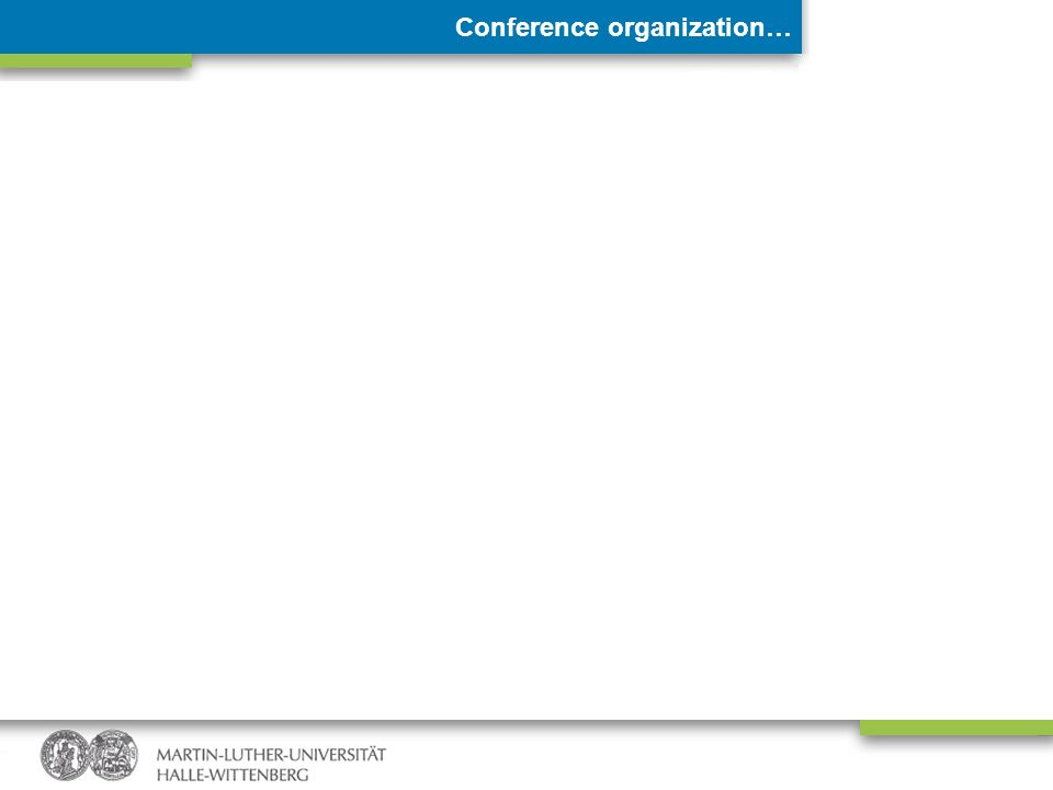 Conference organization…