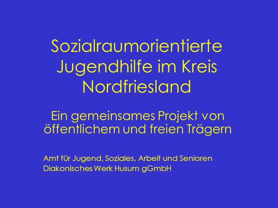 Gliederung: (1)Ausgangslage des Sozialraumprojektes (2)Grundsätze der Hilfe zur Erziehung im Kreis Nordfriesland (3)Fallbearbeitung im Sozialraumprojekt (4)Das Verfahren der kollegialen Beratung im Regionalteam (5)Fallunspezifische und fallübergreifende Arbeit (6)Controlling (7)Qualitätssicherung (8)Bisherige Erfahrungen mit der sozialraumorientierten Jugendhilfe