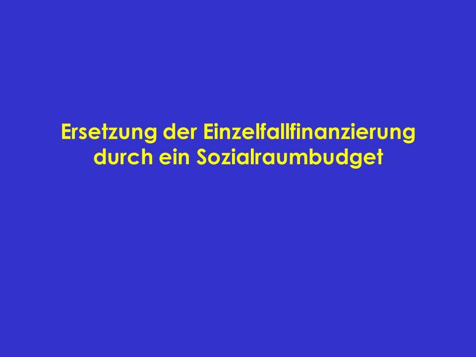 Ersetzung der Einzelfallfinanzierung durch ein Sozialraumbudget