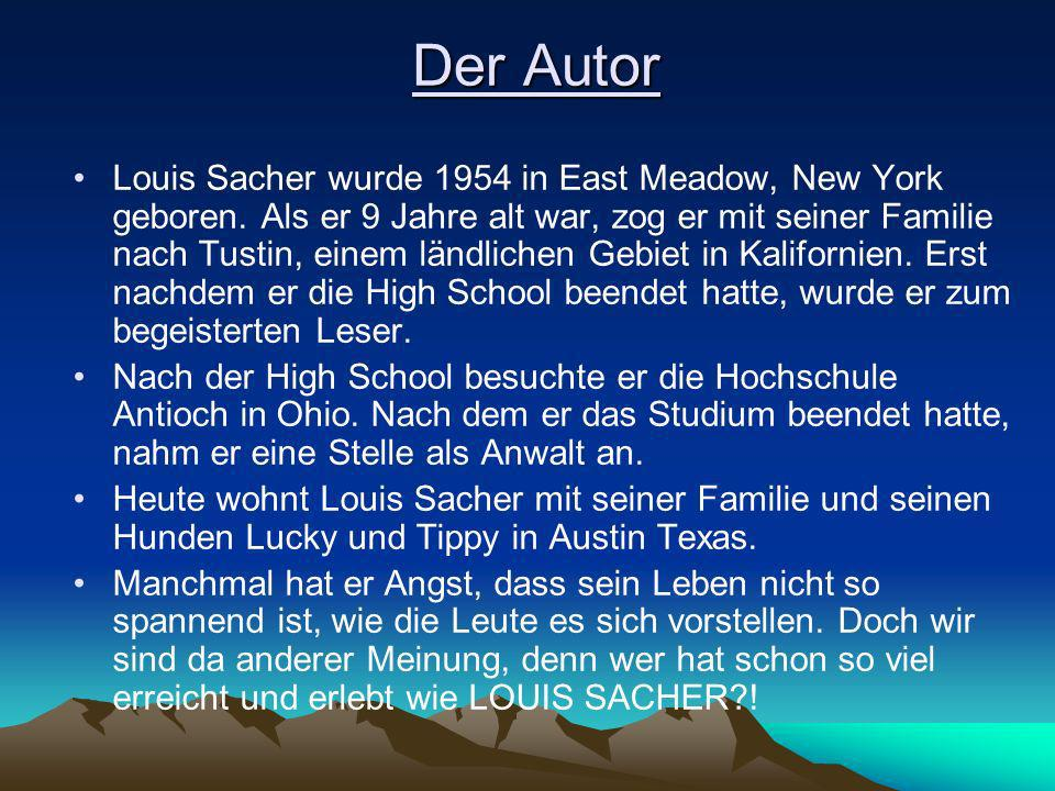 Der Autor Louis Sacher wurde 1954 in East Meadow, New York geboren.