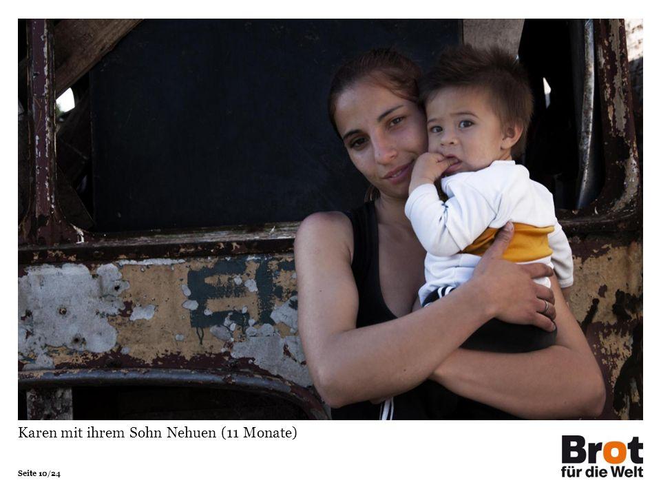 Seite 10/24 Karen mit ihrem Sohn Nehuen (11 Monate)