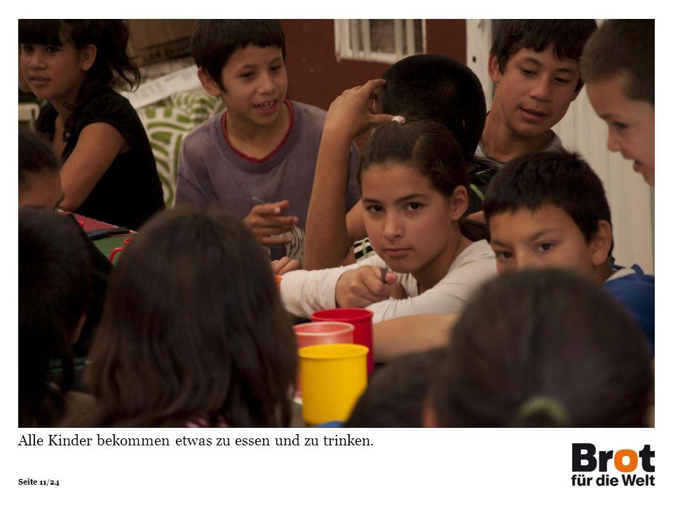 Seite 11/24 Alle Kinder bekommen etwas zu essen und zu trinken.