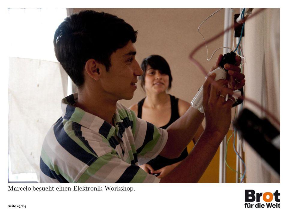Seite 19/24 Marcelo besucht einen Elektronik-Workshop.