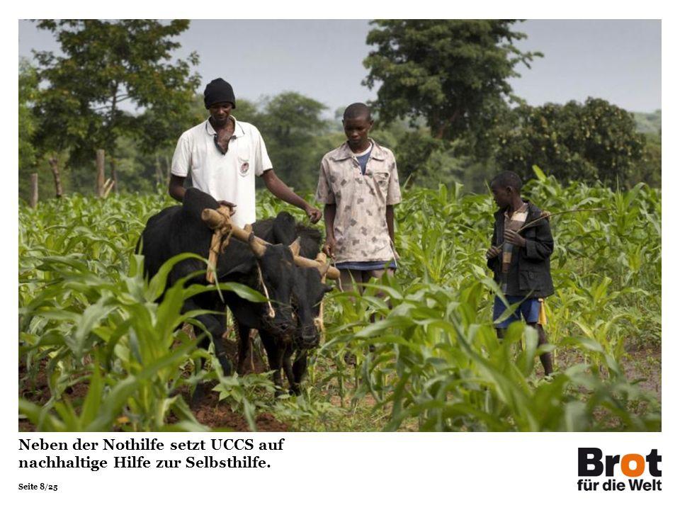 Seite 19/25 UCCS finanzierte der Familie Mwaka eine Pumpe und Rohre zum Bau eines Teiches.
