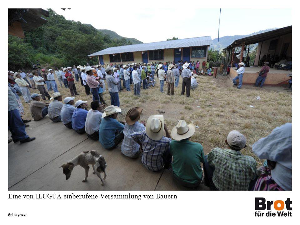 Seite 9/22 Eine von ILUGUA einberufene Versammlung von Bauern
