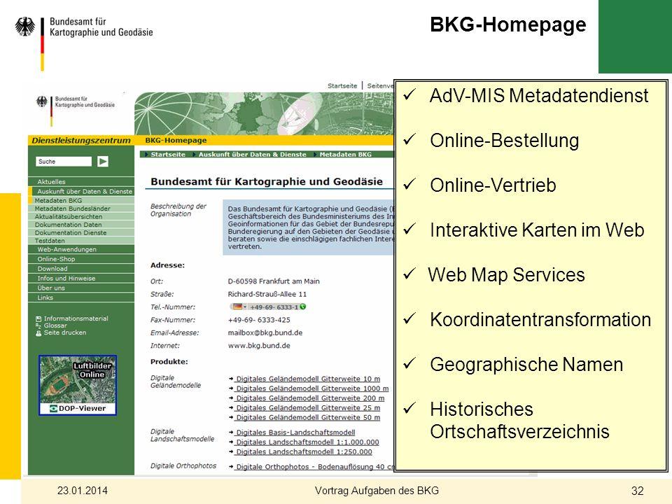 AdV-MIS Metadatendienst Online-Bestellung Online-Vertrieb Interaktive Karten im Web Web Map Services Koordinatentransformation Geographische Namen His