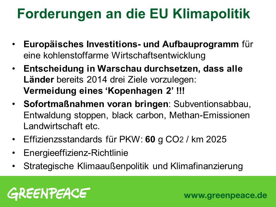 Europäisches Investitions- und Aufbauprogramm für eine kohlenstoffarme Wirtschaftsentwicklung Entscheidung in Warschau durchsetzen, dass alle Länder b