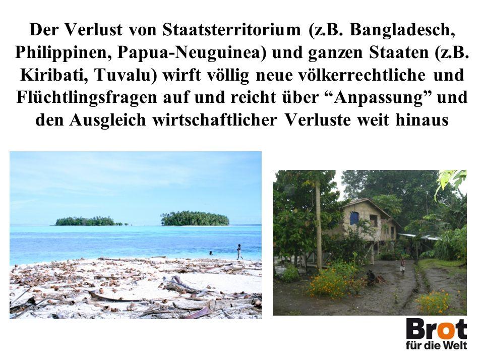 Der Verlust von Staatsterritorium (z.B.