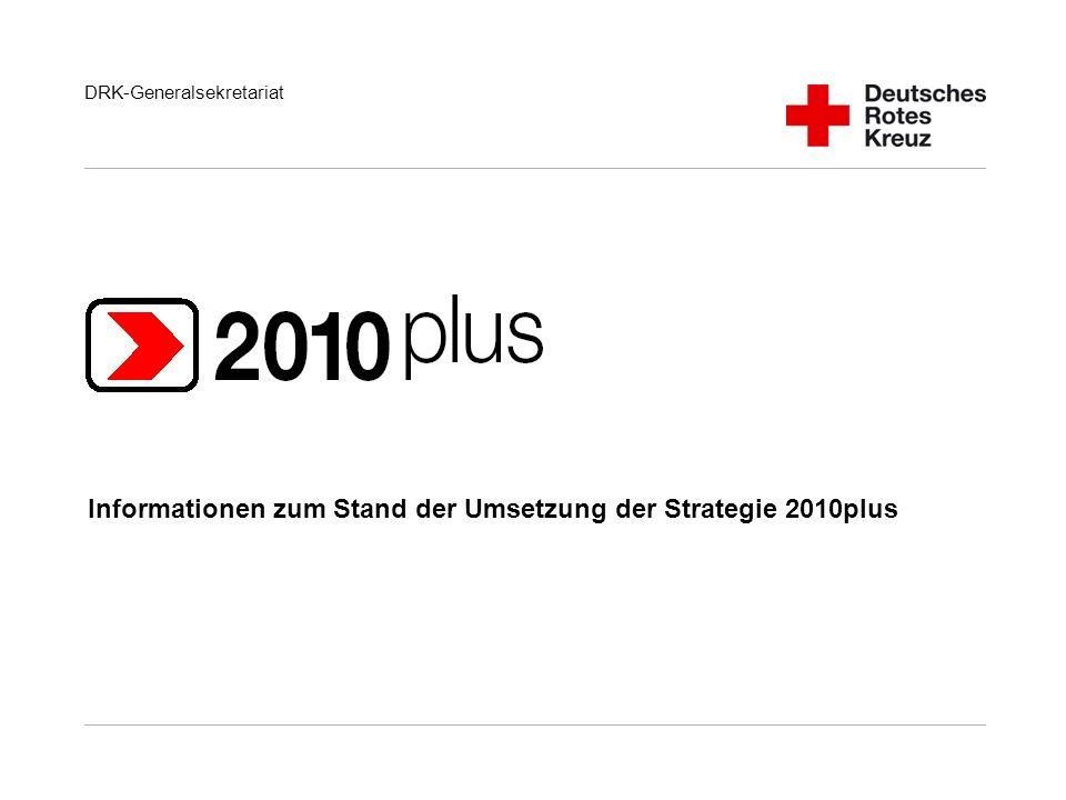 DRK-Generalsekretariat Informationen zum Stand der Umsetzung der Strategie 2010plus