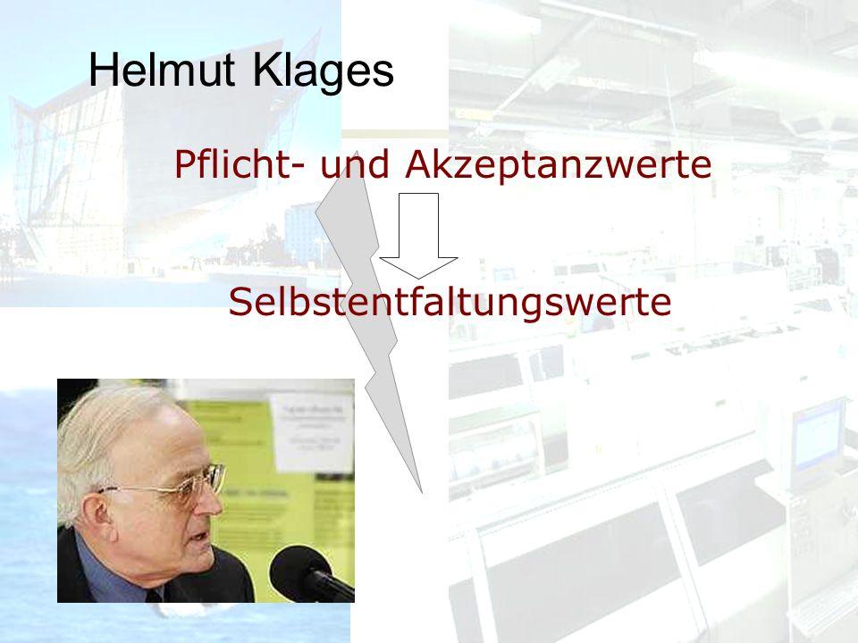 Helmut Klages Pflicht- und Akzeptanzwerte Selbstentfaltungswerte
