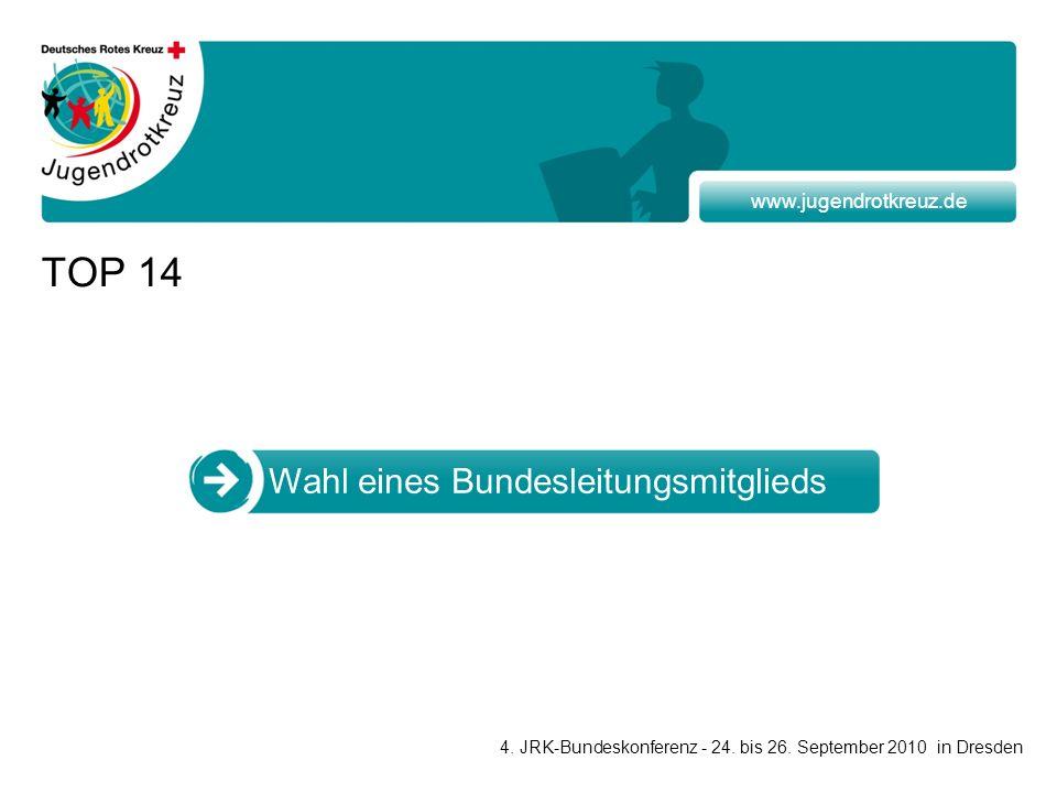 www.jugendrotkreuz.de TOP 14 Wahl eines Bundesleitungsmitglieds 4.