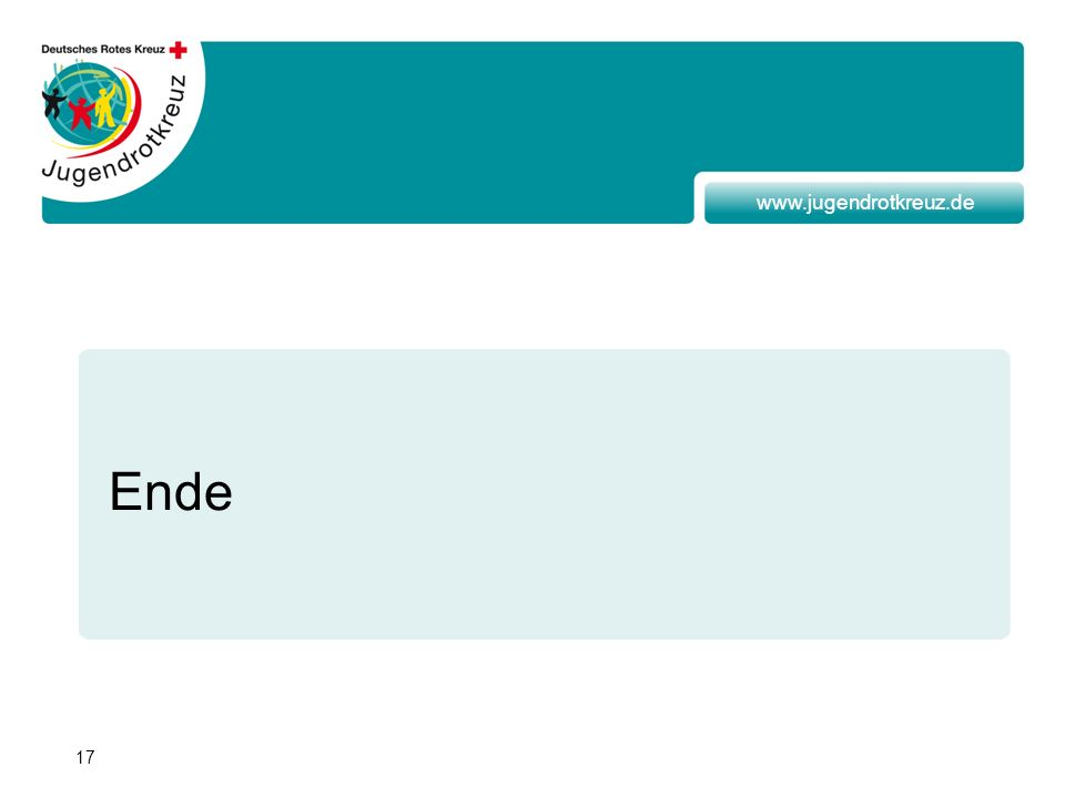 17 www.jugendrotkreuz.de Ende