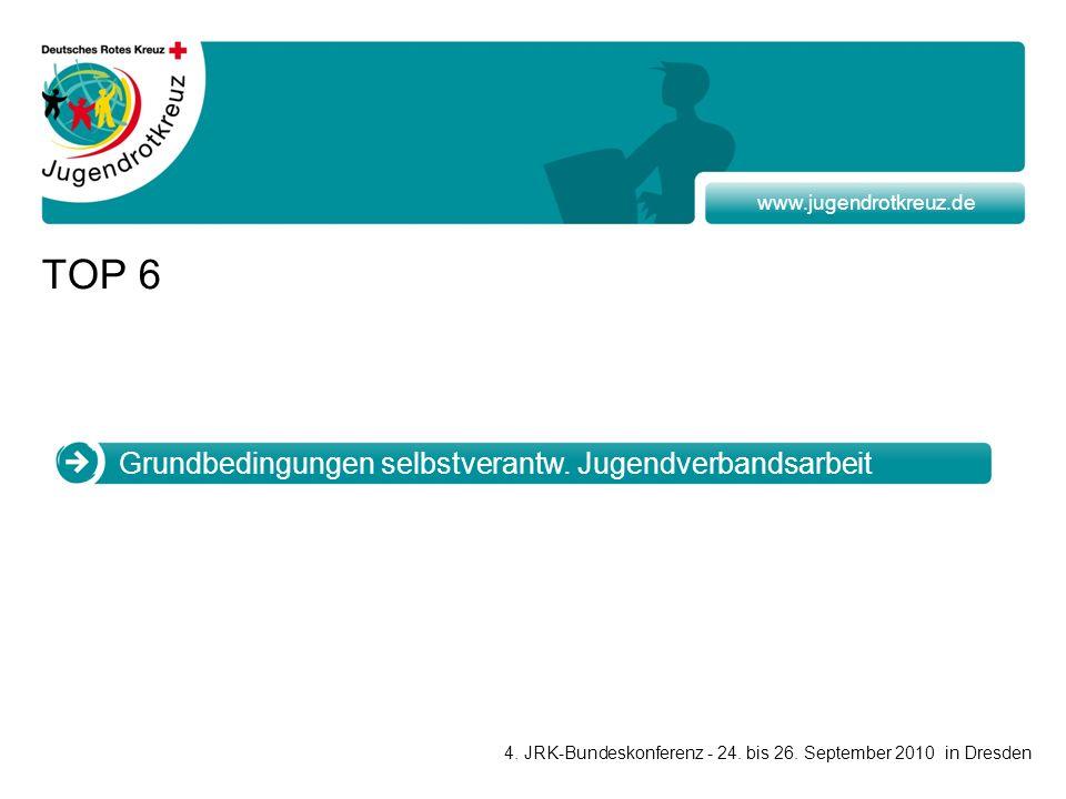 www.jugendrotkreuz.de TOP 6 4. JRK-Bundeskonferenz - 24.