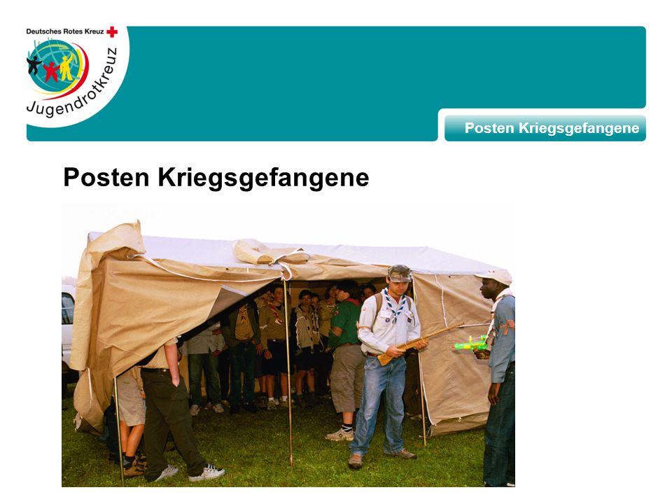 Die Ziele des Postens Humanitäre Hilfe Sich der Schwierigkeitein der humanitären Hilfe bewusst werden Lernen, dass das HVR die Hilfsgüter und das humanitäre Personal schützt Sich der Notwendigkeit von Teamarbeit bewusst werden Die Ziele