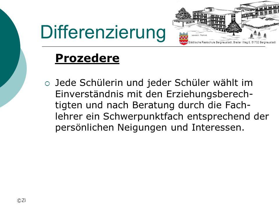 ©Zi Differenzierung Kursplan 7A1 (Französisch) Städtische Realschule Bergneustadt, Breiter Weg 8, 51702 Bergneustadt