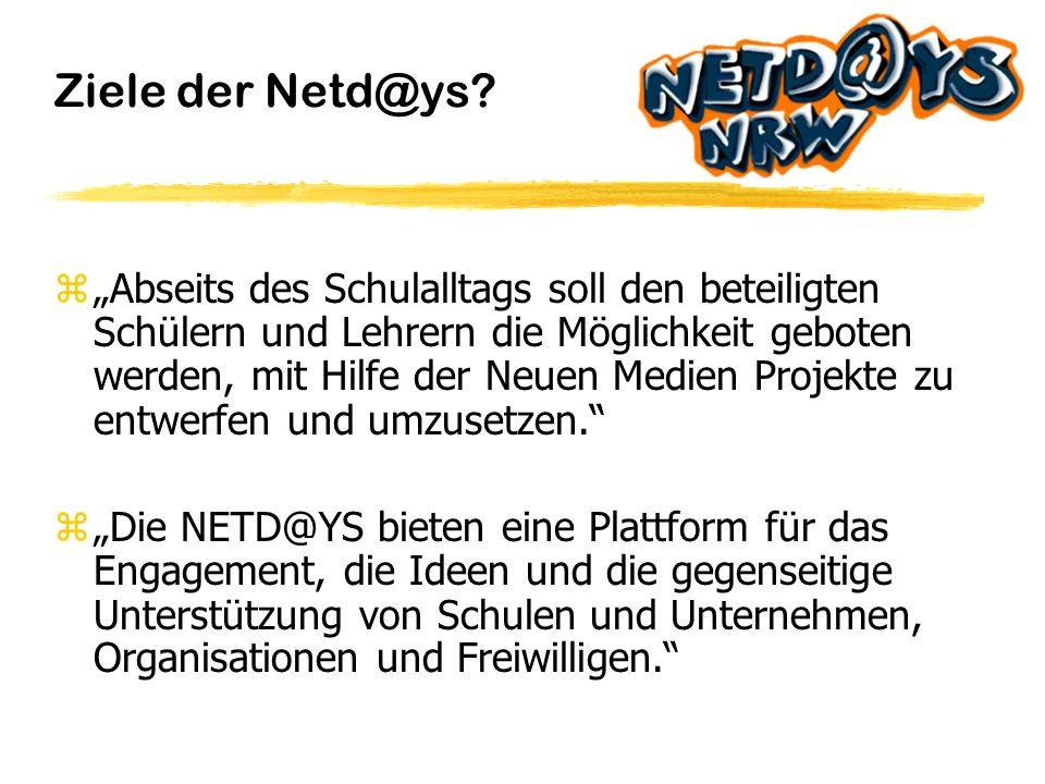 Netd@ys 2000 Ziele der Netd@ys Geschichte der Netd@ys Durchführung der Netd@ys Projektbeispiele Was gibt es zu gewinnen.