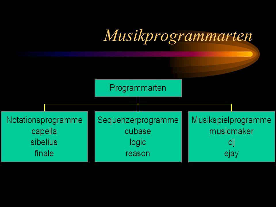 Sequenzerprogramme bieten lediglich Tools (Werkzeuge) und eine unbeschriebene Oberfläche vgl.