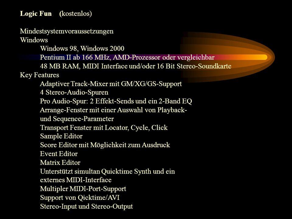 Einsatzmöglichkeiten für ein Sequenzerprogramm 1.