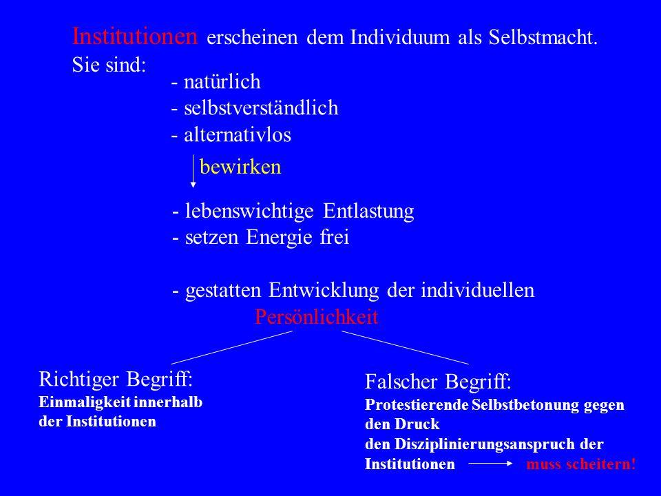 INSTITUTIONEN Organisationen:- staatliche Einrichtungen - öffentliche Einrichtungen, z.B.: Unicef, Greenpeace, etc.. Regeln und Normen:- Gesetze, z.B.