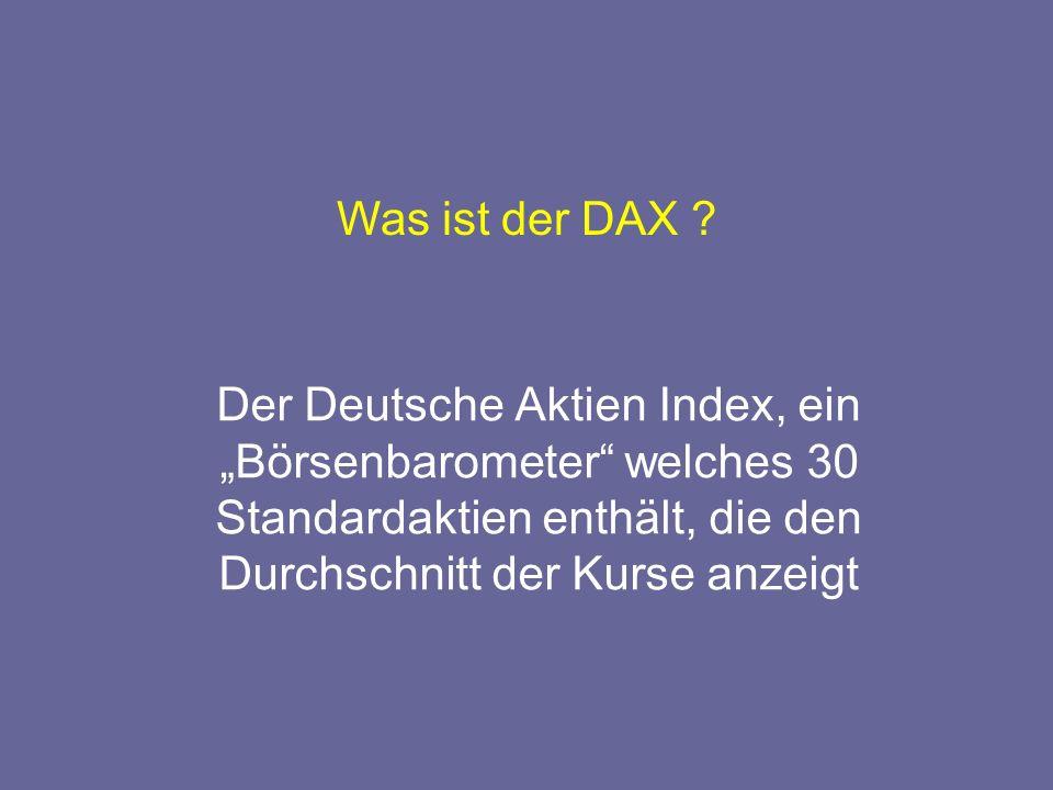 Was ist der DAX .