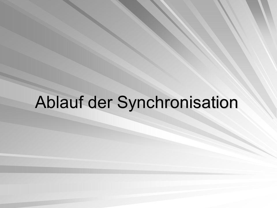 Ablauf der Synchronisation