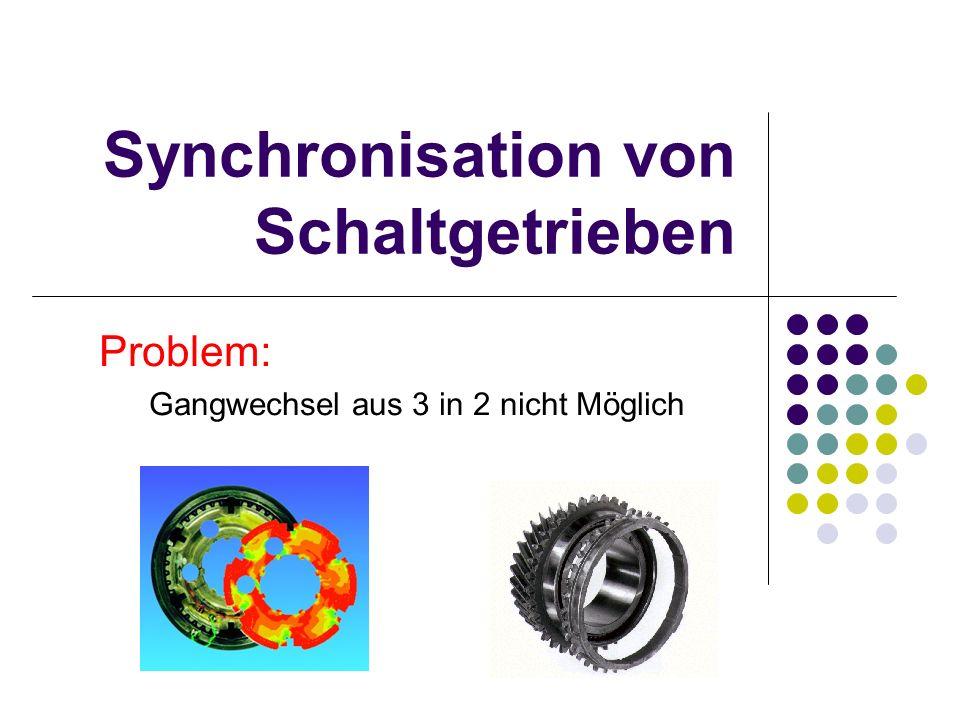Synchronisation von Schaltgetrieben Problem: Gangwechsel aus 3 in 2 nicht Möglich
