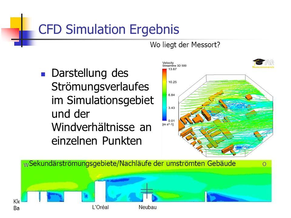Kleinwindanlagen - Untersuchung ihrer Eignung auf einem Gebäude der Fachhochschule Düsseldorf Bachelorthesis S.Kröll 21 CFD Simulation Ergebnis Darste