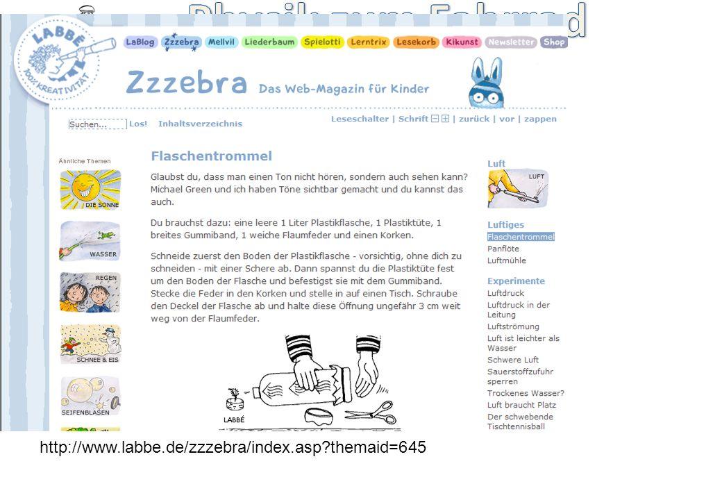 - Kinderfachhochschule - http://www.labbe.de/zzzebra/index.asp?themaid=645