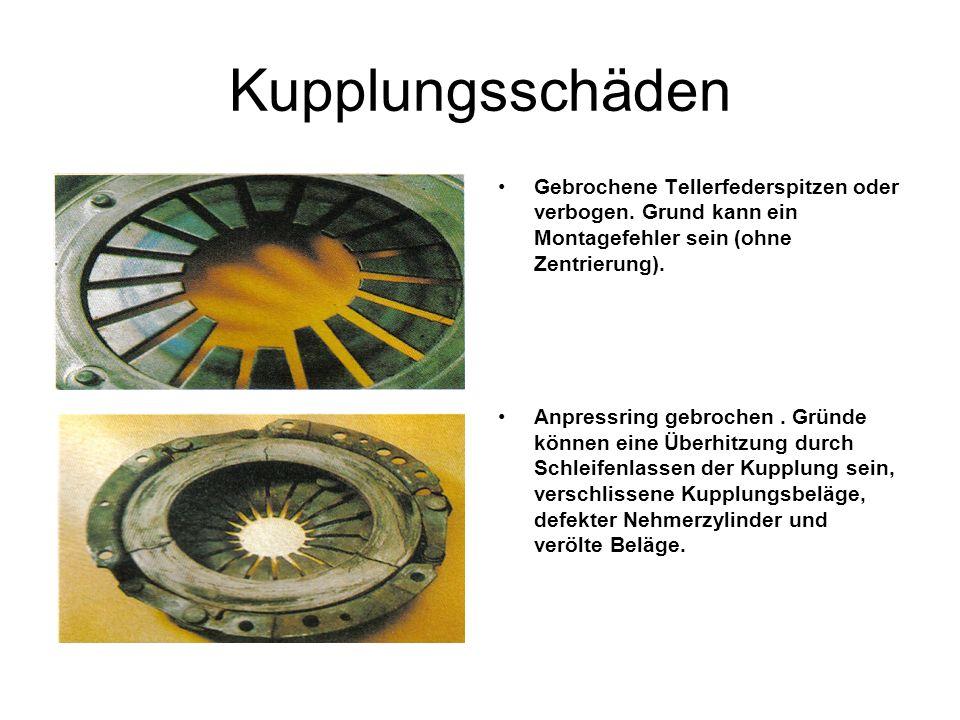 Kupplungsschäden Gebrochene Tellerfederspitzen oder verbogen.