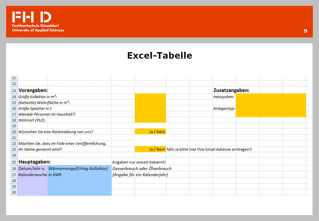 Excel-Tabelle 9
