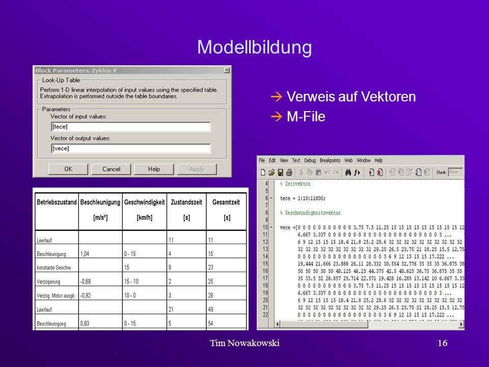 Tim Nowakowski16 Modellbildung Verweis auf Vektoren M-File