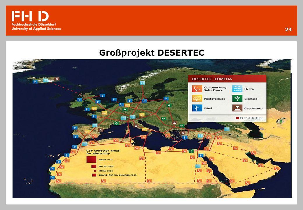 Großprojekt DESERTEC 24
