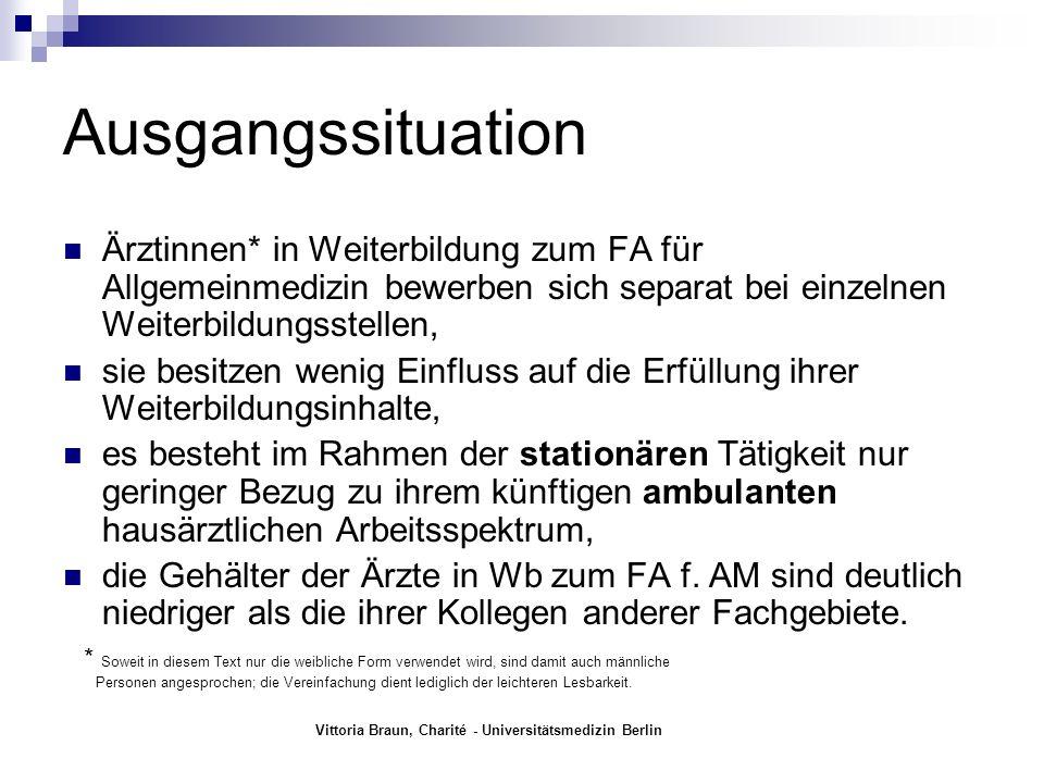Vittoria Braun, Charité - Universitätsmedizin Berlin Wie hilft das DRK – Krankenhaus bei der ambulanten Weiterbildung.