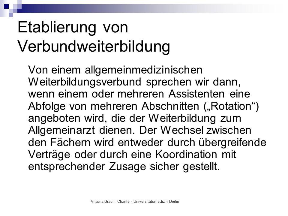 Vittoria Braun, Charité - Universitätsmedizin Berlin Wer profitiert von der Verbund- Weiterbildung.