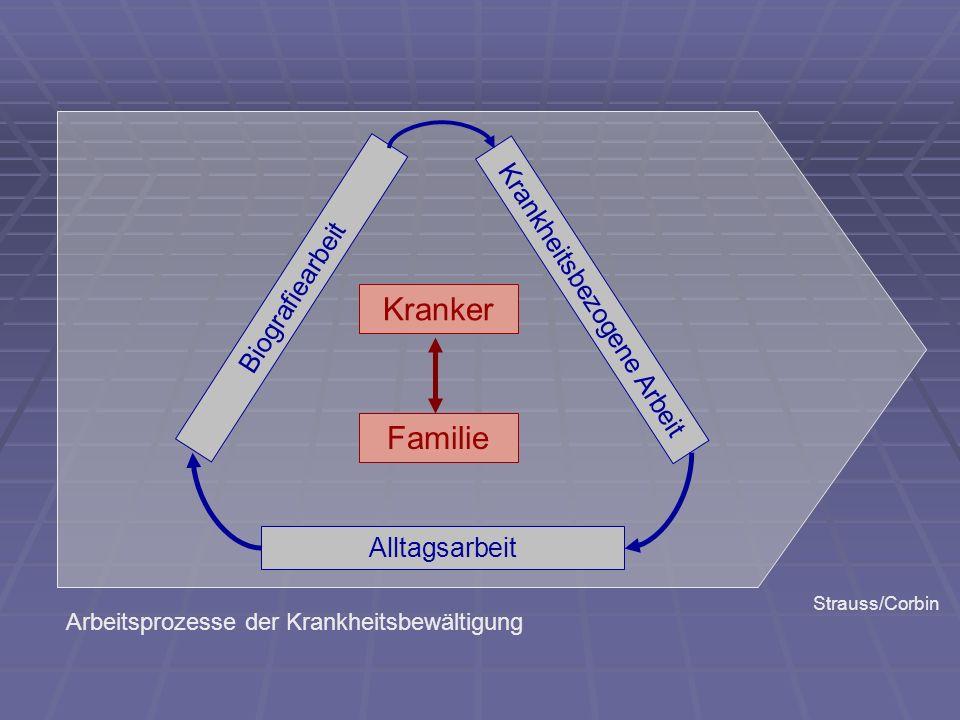 Krankheitsbezogene Arbeit Alltagsarbeit Biografiearbeit Kranker Familie Strauss/Corbin Arbeitsprozesse der Krankheitsbewältigung